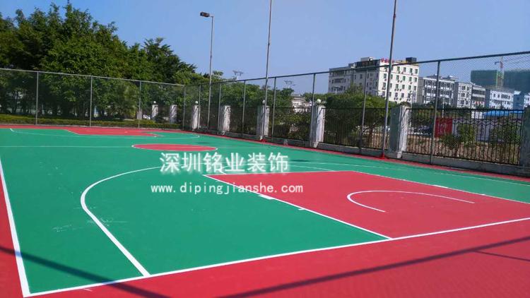 深圳宝安西乡硅PU篮球场工程案例