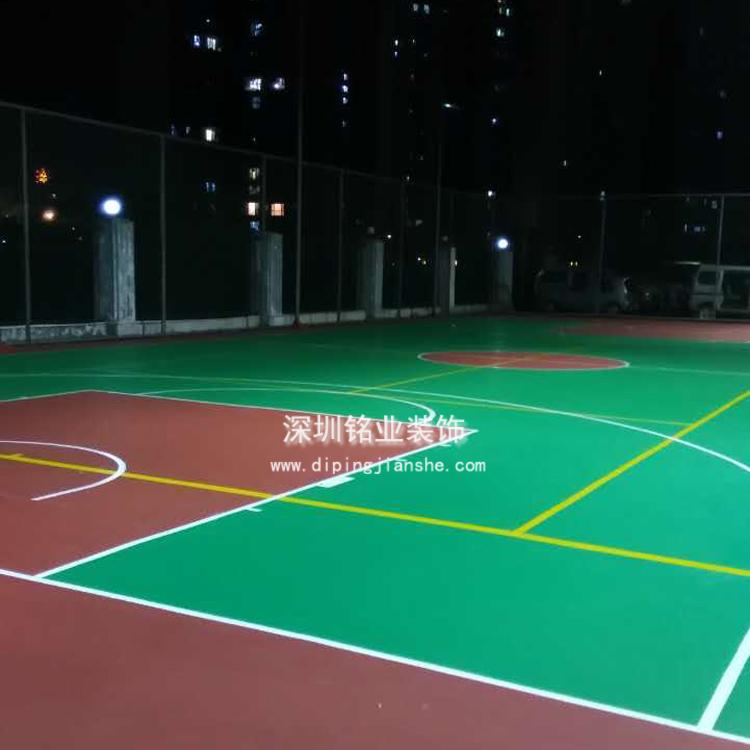 深圳龙岗区坪山硅PU篮球场