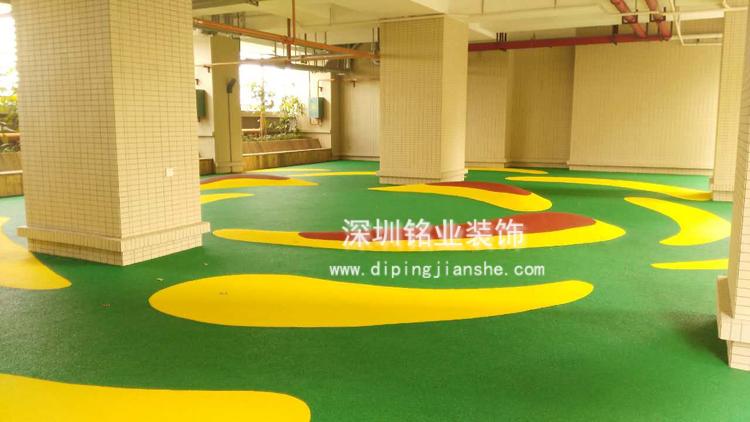 龙华新区观澜EPDM地板工程案例
