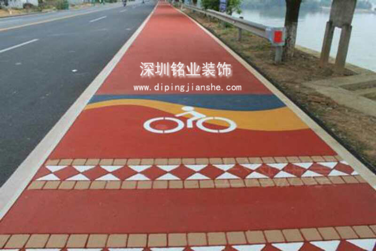 深圳南山彩色路面工程案例