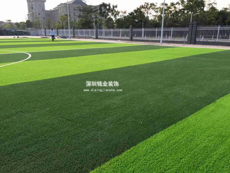 广东珠海人造草足球场工程案例