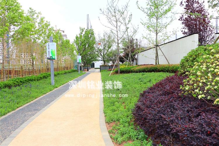 广东中山公园彩色透水混凝土工程案例
