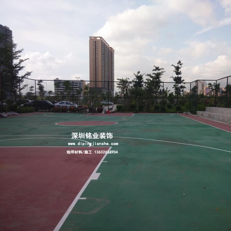 深圳中心路公园硅PU篮球场案例