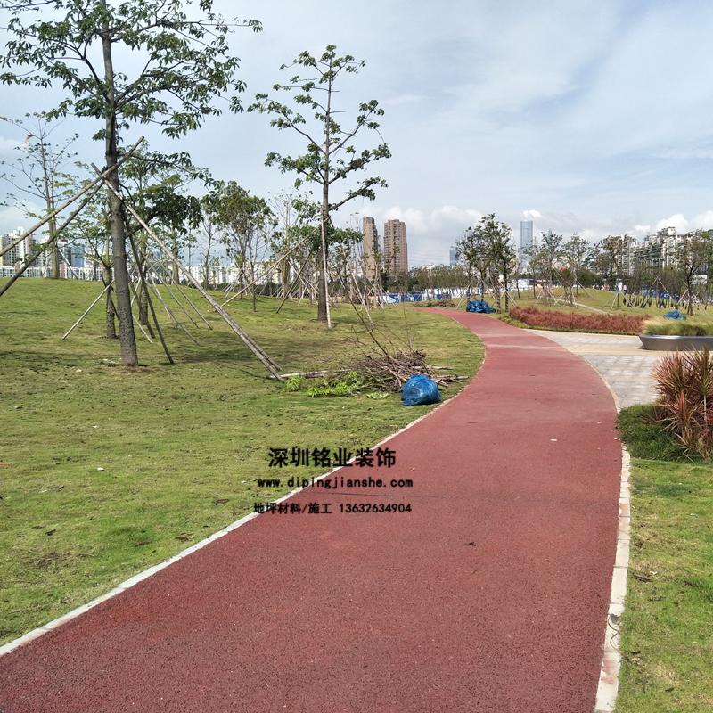 深圳前海彩色透水地坪案例