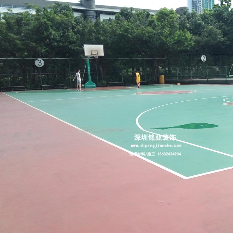 深圳众裁俱乐部硅PU篮球场案例