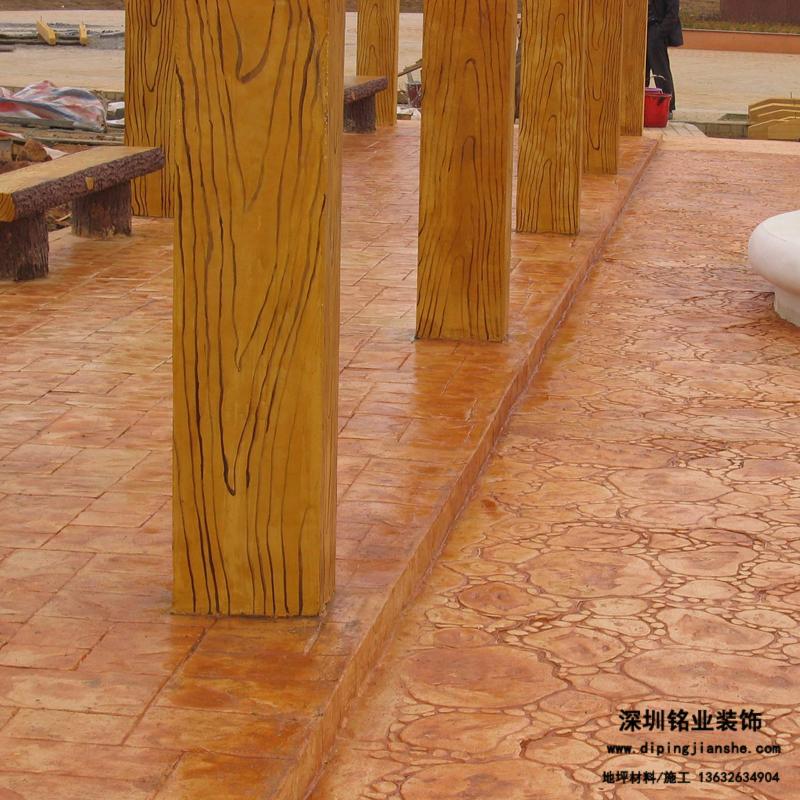 文化广场压模地坪案例
